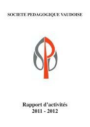 AD 12 / Rapport d'activités - Société pédagogique vaudoise