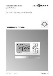 Notice d'utilisation Vitotrol 200-A388 KB - Viessmann