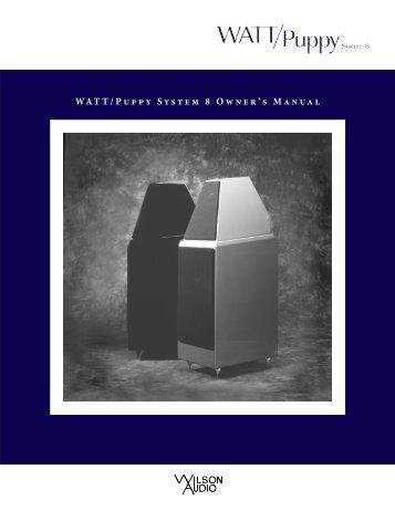 sophia series 2 owner s manual wilson audio rh yumpu com Wilson Audio Duette Wilson Audio Duette