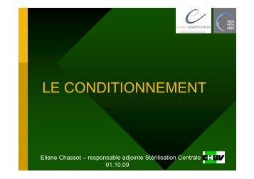 LE CONDITIONNEMENT