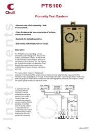 PTS100 Data Sheet - Chell Instruments Limited