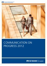 COMMUNICATION ON PROGRESS 2012 - bei der DZ BANK
