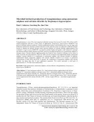 Microbial fed-batch production of transglutaminase using ...