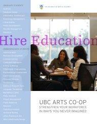 Download Our Brochure - UBC Arts Co-op Program