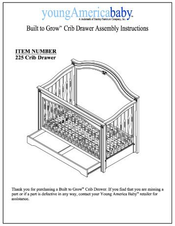 L Instruction Sheets Btg Crib Sleigh Bed Stanley