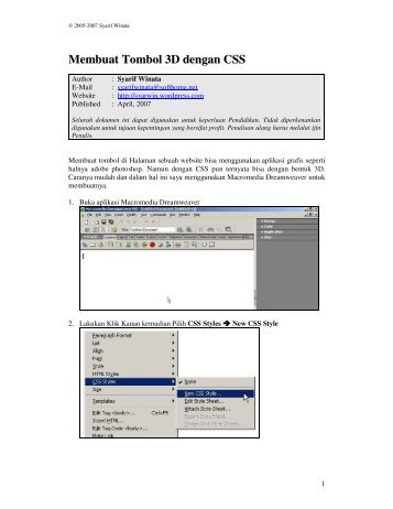 Membuat Tombol 3D dengan CSS - fileserver