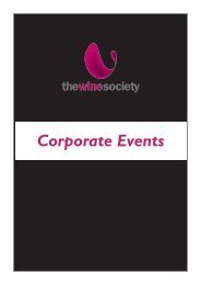 Corporate Events - The Wine Society