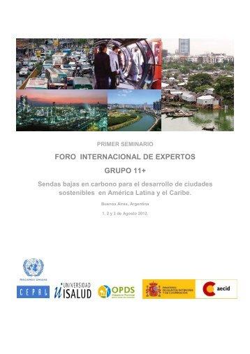 foro internacional de expertos grupo 11+ - Universidad ISALUD