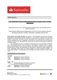 Cine Santander Cultural abre programação de agosto com o drama ...