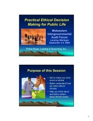 Practical Ethical Decision Making for Public Life ...