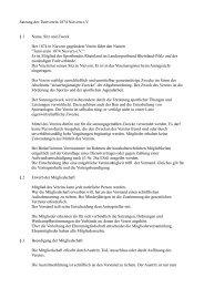 Satzung des Turnverein 1874 Nievern eV § 1 Name, Sitz und Zweck ...