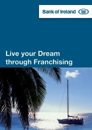 Live your Dream through Franchising - Bank of Ireland