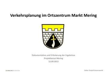Dokumentation Ergebnisse Projektbeirat - VG Mering