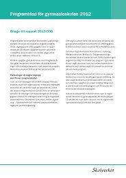 Programblad för yrkesprogram, högskoleförberedande ... - Skolverket
