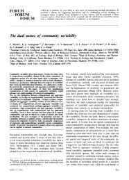 The dual nature of community variability - ResearchGate