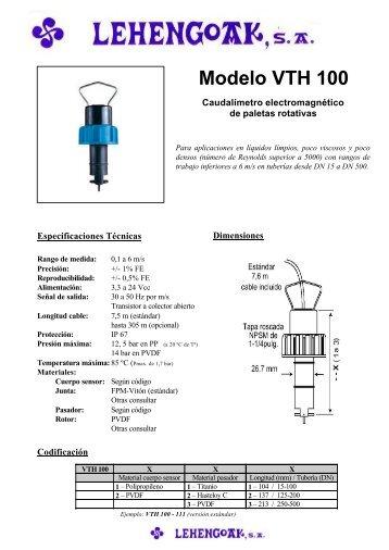 Modelo VTH 100 - Lehengoak