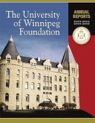 2003-2005 Annual Report Part 1 - University of Winnipeg