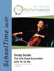 SilkRoad_StudyGuide 0607.indd - Cal Performances - University of ...