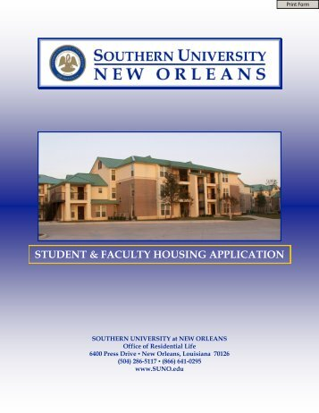 student & faculty housing application - Southern University New ...