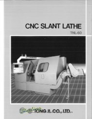 Tong il Co CNC Slant Lathe Brochure - Sterling Machinery