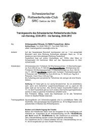 bis Samstag, 28.04.2012 - Schweizerischer Rottweilerhunde Club