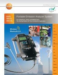 testo 350xl - IE Monitoring Instruments Inc