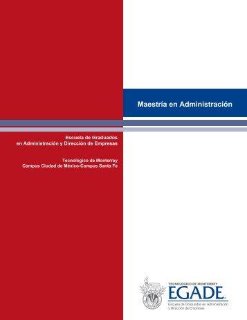 Maestría en Administración - Santa Fe - Tecnológico de Monterrey