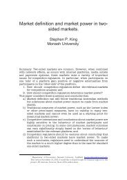 Market definition and market power in two- sided markets.