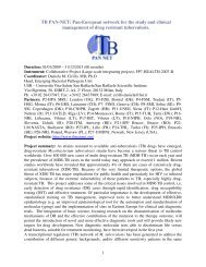 Summary for year 2009 activities - TB-PAN-NET