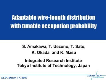 Adaptable wire-length distribution with tunable occupation ... - SLIP