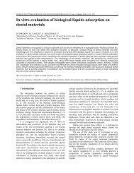 In vitro evaluation of biological liquids adsorption on ... - INOE 2000