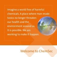 Welcome to ChemSec - Skanska