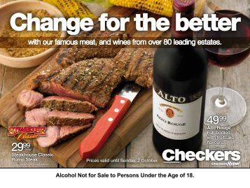 Alcohol Not for Sale to Persons Under the Age of 18. - Find Specials
