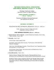 Conference Program - Michigan Sociological Association