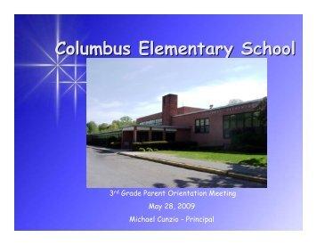 3rd Grade Parent Orientation Program - Columbus Elementary School