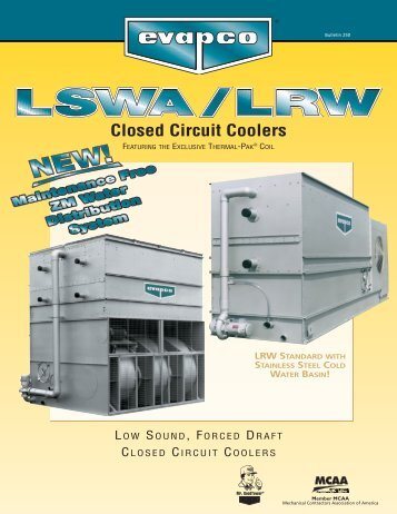 Closed Circuit Coolers - Tasman Cooling Towers