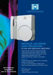 HRT4B RF and HRT4B room thermostats - Horstmann