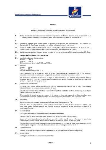 ANEXO 5 ANEXO 5 NORMAS DE HOMOLOGACION DE ...