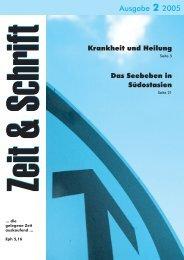 Heft 2/2005 - Zeit & Schrift
