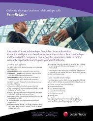 ExecRelate™ - Corporate Counsel - LexisNexis