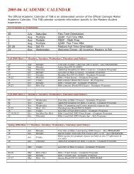 Cmu Academic Calendar.Women At Tepper Carnegie Mellon University