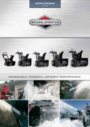 English catalogue - A Complete Line of Snow Blowers | Briggs ...