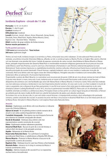 Iordania Explore - circuit de 11 zile - Perfect Tour