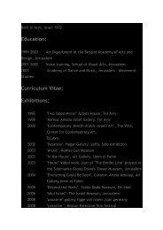 Education: Curriculum Vitae: Exhibitions: