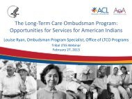 The Long-Term Care Ombudsman Program: Opportunities for ...