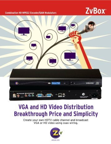 VGA and HD Video Distribution Breakthrough Price and Simplicity