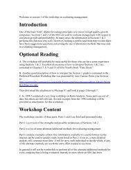 Introduction Optional Reading Workshop Content - Bivio