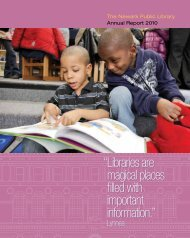 Annual Report for 2010 - Newark Public Library