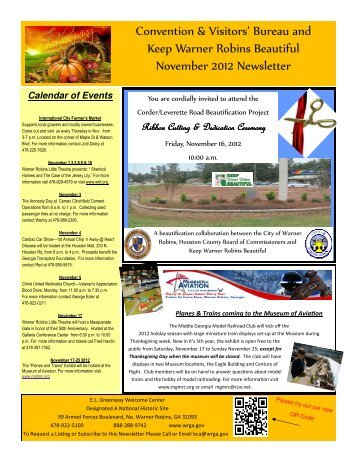 Calendar of Events - City of Warner Robins