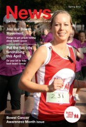 Spring - Summer News 2012 - Beating Bowel Cancer